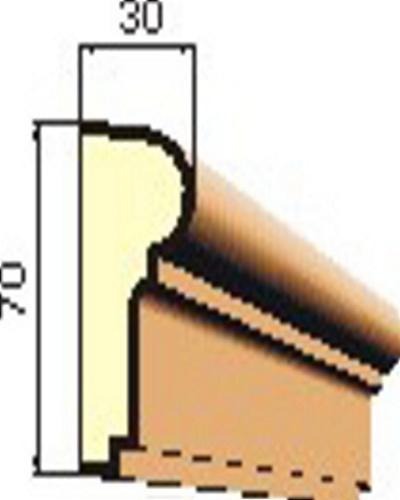 šambrána, rámový profil 70x30mm RP1004