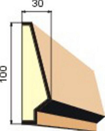 rámový profil, šambrána, fasádní profil