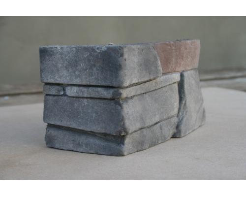kámen umělý slanec basalt, imitace kamene do interiéru, dekorační kámen, obkladový kámen, rohový prvek Slanec Basalt 008
