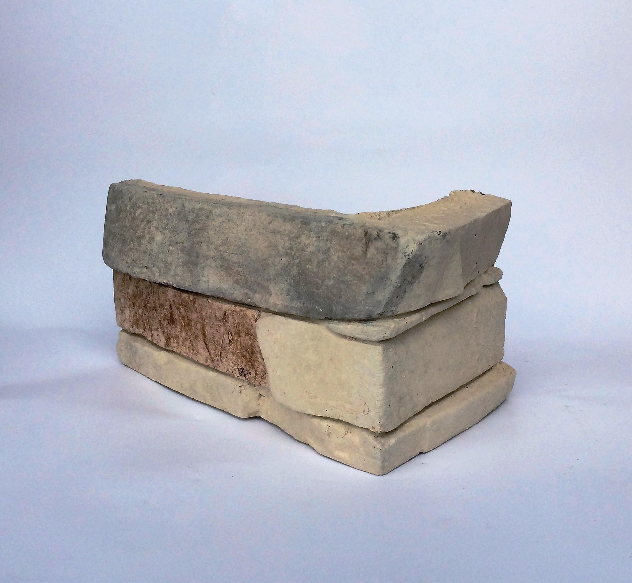 kámen umělý dekorační slanec, imitace kamene do interiéru, dekorační kámen,rohový prvek Slanec Bland Cream 004