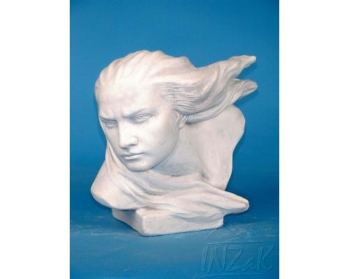 zahradní busta Sturm, betonová socha